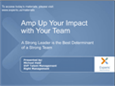 Amp Up Your Impact with Your Team Webinar
