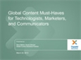 Global Content Must-Haves Webinar