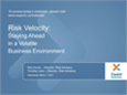 Risk Velocity: Staying Ahead in a Volatile Business Environment Webinar