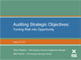 Auditing Strategic Objectives Webinar