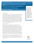 Office 2010 Application Assessment and Windows 7 Readiness