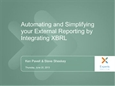 Integrating XBRL into your financial reporting process (6/20/13)